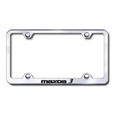 Mazda 3 Wide Body Laser Etched Chrome Metal License Plate Frame