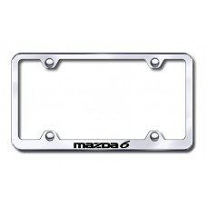 Mazda 6 Wide Body Laser Etched Chrome Metal License Plate Frame