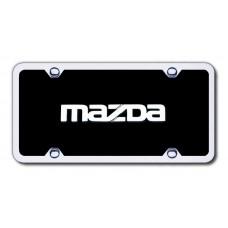 Mazda Chrome/Black Acrylic License Plate Kit