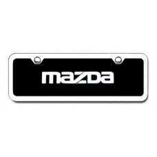 Mazda Chrome Engraved Name Badge-Mini License Plate