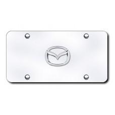 Mazda New-Logo Chrome on Chrome License Plate