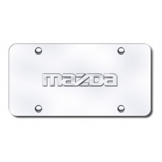 Mazda Name Chrome on Chrome License Plate