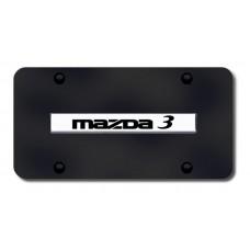Mazda 3 Name CHR/BLK License Plate