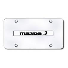 Mazda 3 Name Chrome on Chrome License Plate
