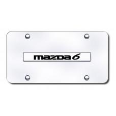 Mazda6 Name Chrome on Chrome License Plate