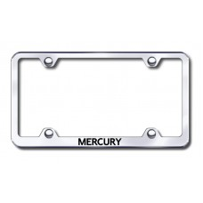 Mercury Wide Body Laser Etched Chrome Metal License Plate