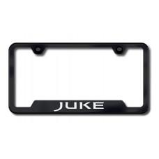Juke Laser Etched Black Cut-Out License Plate Frame