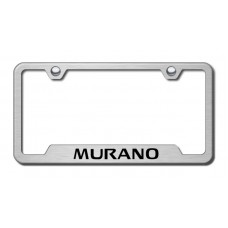 Murano Laser Etched Brushed Stainless Steel Cut-Out License Plate Frame