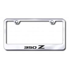 350Z Laser Etched Chrome License Plate Frame