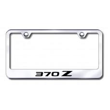 370Z Laser Etched Chrome License Plate Frame