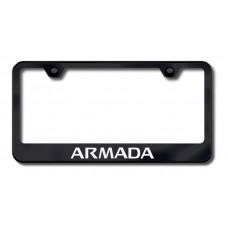 Armada Laser Etched Black License Plate Frame