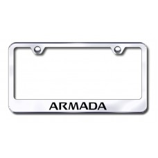 Armada Laser Etched Stainless Steel License Plate Frame