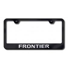 Frontier Laser Etched Black License Plate Frame