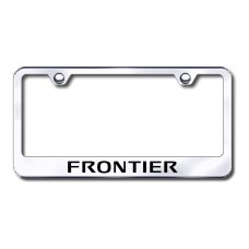 Frontier Laser Etched Chrome Metal License Plate Frame