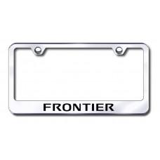 Frontier Laser Etched Chrome Metal License Plate Frame