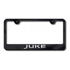 Juke Laser Etched Black License Plate Frame