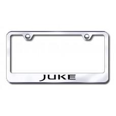 Juke Laser Etched Chrome Metal License Plate Frame