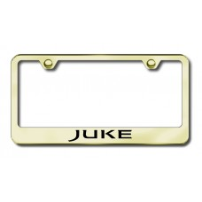 Juke Laser Etched Gold Metal License Plate Frame