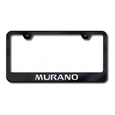 Murano Laser Etched Black License Plate Frame