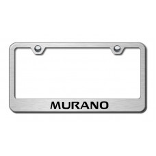 Murano Laser Etched Brushed Stainless Steel License Plate Frame