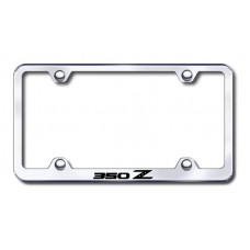 350Z Wide Body Laser Etched Chrome Metal License Plate Frame