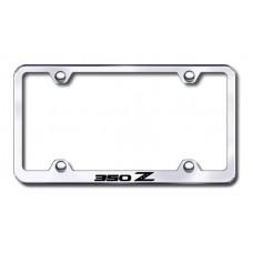350Z Wide Body Laser Etched Chrome Metal License Plate Frame