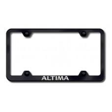 Altima Laser Etched Wide Bottom Black License Plate Frame