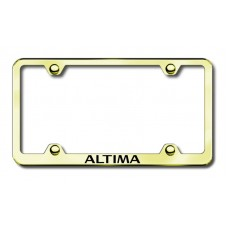 Altima Wide Body Laser Etched Gold License Plate Frame