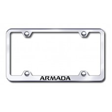Armada Wide Body Laser Etched Chrome Metal Frame