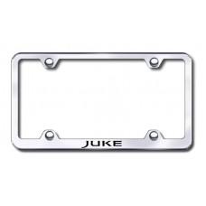 Juke Wide Body Laser Etched Chrome Metal License Plate Frame