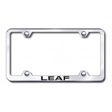 Leaf Wide Body Laser Etched Chrome Metal License Plate Frame