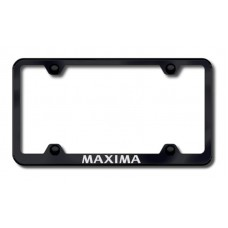Maxima Wide Body Laser Etched Black License Plate Frame