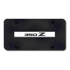 350Z Name Chrome on Black License Plate