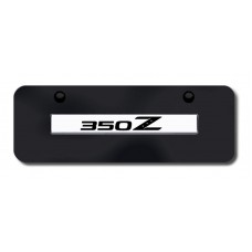 350Z Name Chrome on Black Mini License Plate