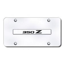 350Z Name Chrome on Chrome License Plate