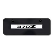 370Z Name Chrome on Black Mini License Plate