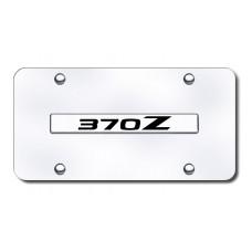 370Z Name Chrome on Chrome License Plate