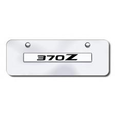 370Z Name Chrome on Chrome Mini License Plate