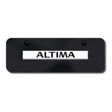 Altima Name Chrome on Black Mini License Plate