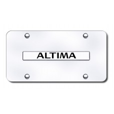Altima Name Chrome on Chrome License Plate