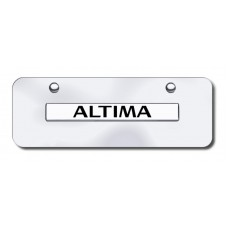 Altima Name Chrome on Chrome Mini License Plate