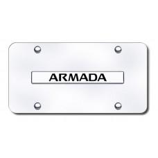 Armada Name Chrome on Chrome License Plate