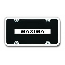 Maxima Chrome/Black Acrylic License Plate Kit