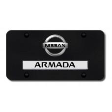 Dual Armada (New) Logo CHR/BLK License Plate