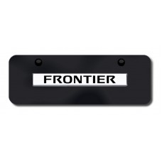 Frontier Name Chrome on Black Mini License Plate