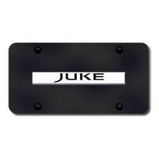Juke Name Chrome on Black License Plate