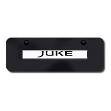 Juke Name Chrome on Black Mini License Plate