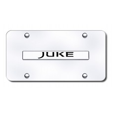 Juke Name Chrome on Chrome License Plate