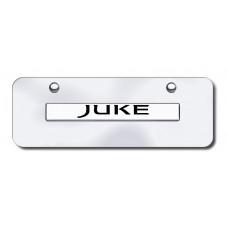 Juke Name Chrome on Chrome Mini License Plate