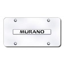 Murano Name Chrome on Chrome License Plate